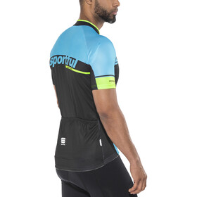 Sportful SC Team Jersey Men black/blue flame/green fluo